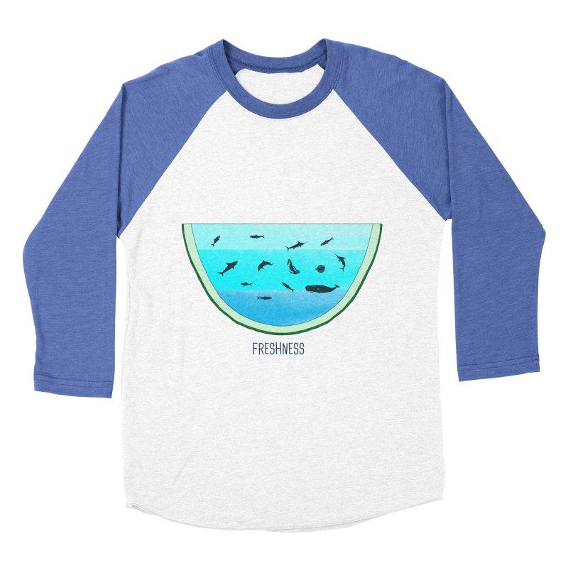 Water Melon Women's Baseball Triblend T-Shirt by groch's Artist Shop