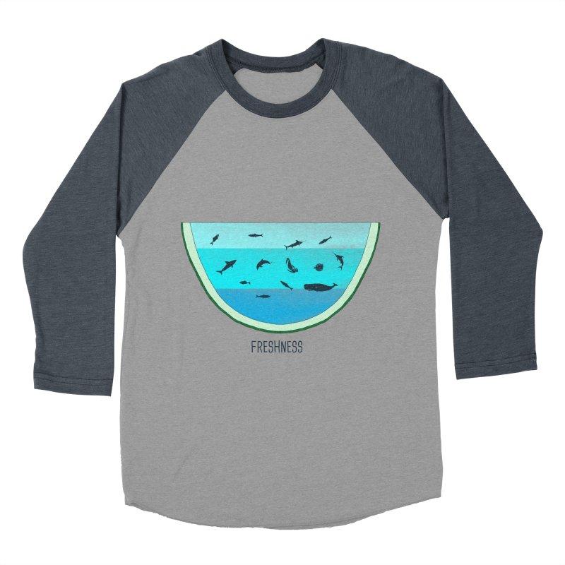 Water Melon Men's Baseball Triblend T-Shirt by groch's Artist Shop