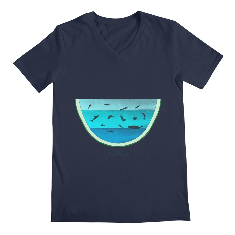 Water Melon Men's V-Neck by groch's Artist Shop