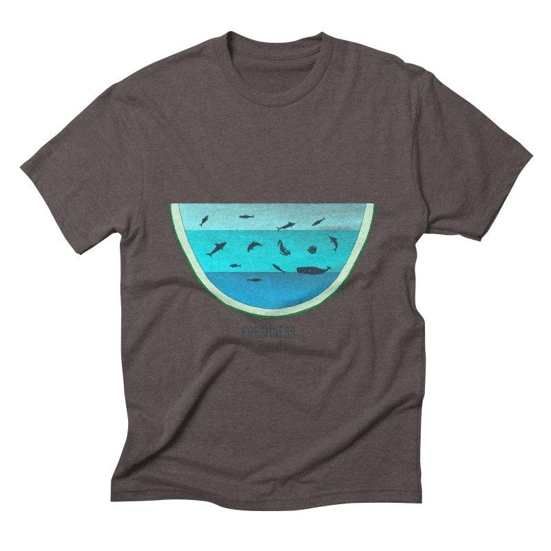 Water Melon Men's Triblend T-shirt by groch's Artist Shop