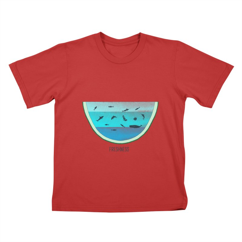 Water Melon Kids T-Shirt by groch's Artist Shop