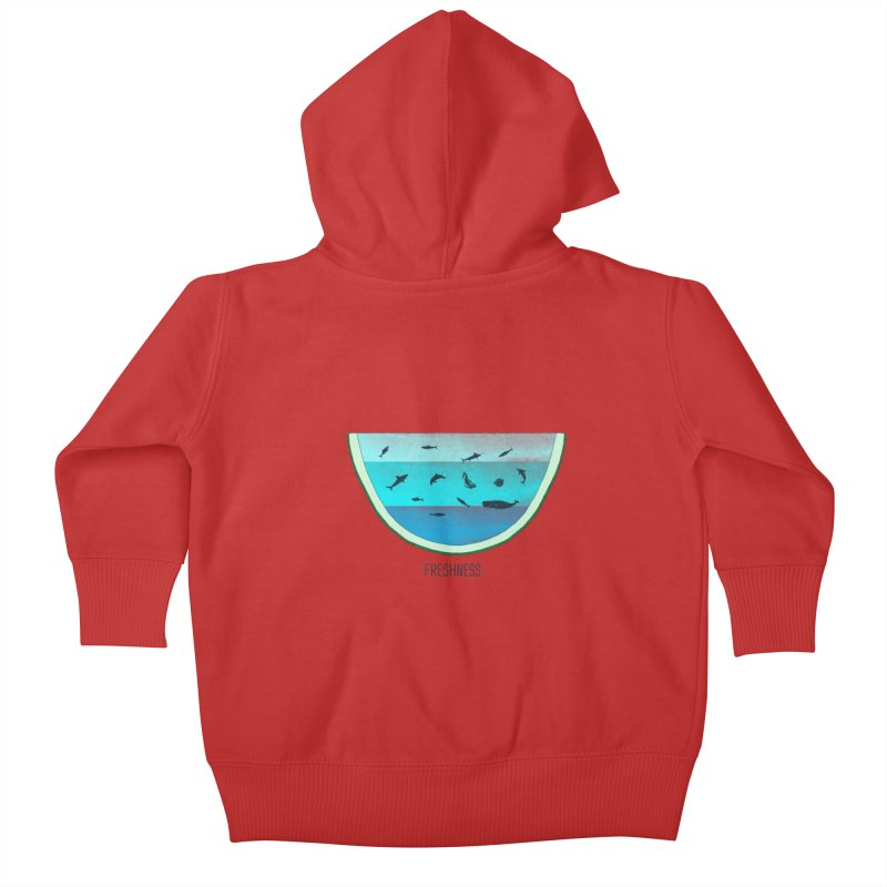 Water Melon Kids Baby Zip-Up Hoody by groch's Artist Shop