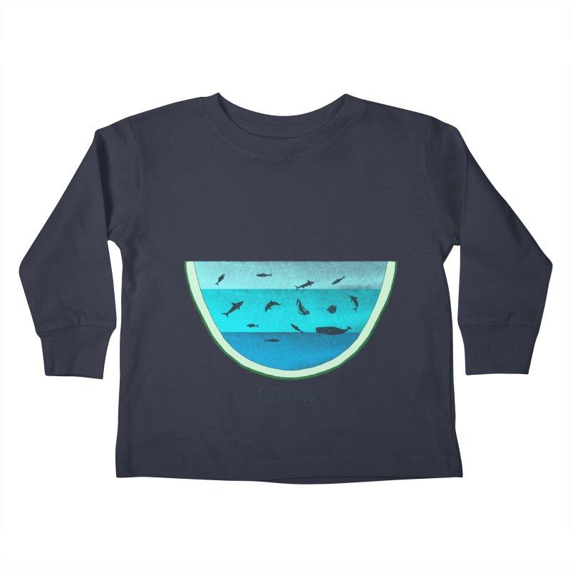 Water Melon Kids Toddler Longsleeve T-Shirt by groch's Artist Shop