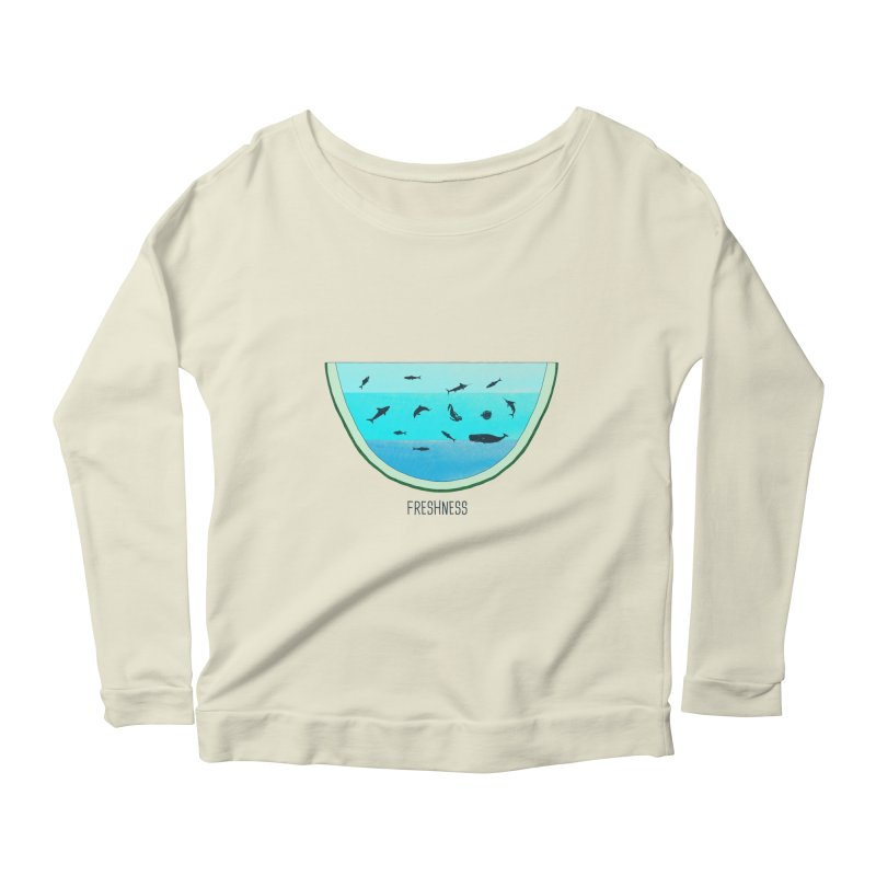 Water Melon Women's Longsleeve Scoopneck  by groch's Artist Shop