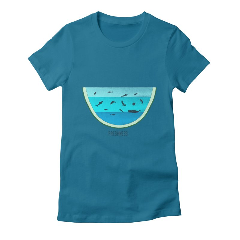 Water Melon Women's Fitted T-Shirt by groch's Artist Shop