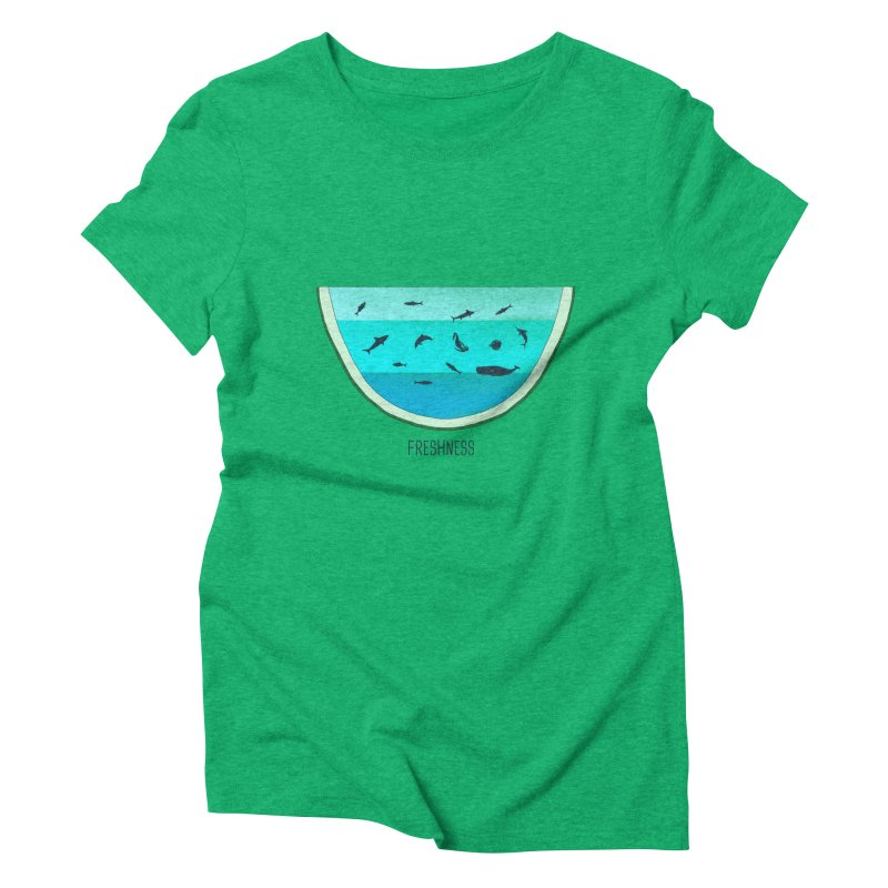 Water Melon Women's Triblend T-Shirt by groch's Artist Shop