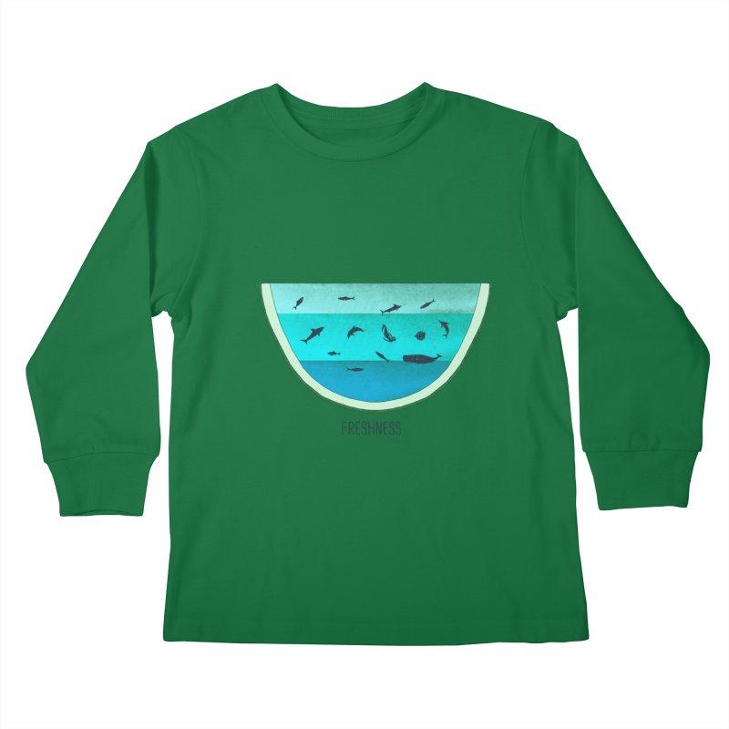 Water Melon Kids Longsleeve T-Shirt by groch's Artist Shop