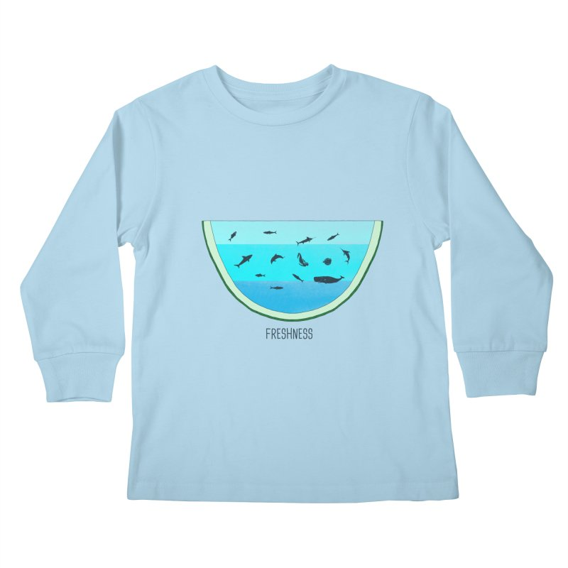 Water Melon Kids Longsleeve T-Shirt by groch's Artist Shop