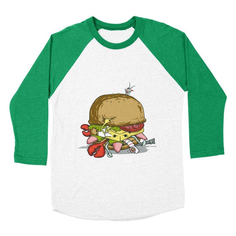 Chump Burger Women's Baseball Triblend T-Shirt by groch's Artist Shop