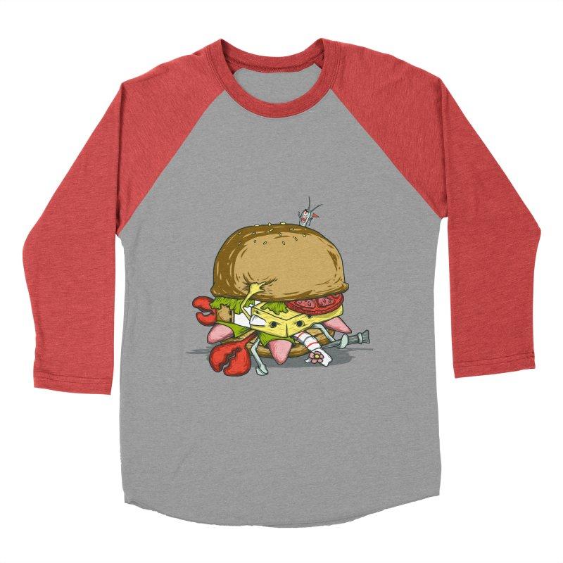 Chump Burger Men's Baseball Triblend T-Shirt by groch's Artist Shop