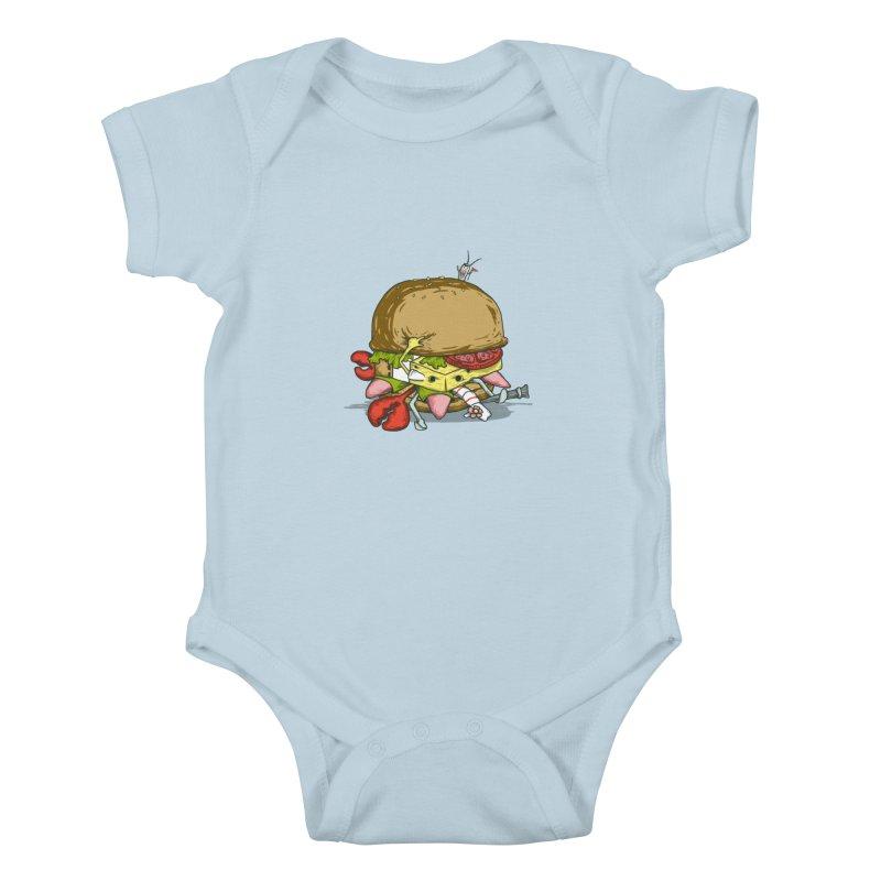 Chump Burger Kids Baby Bodysuit by groch's Artist Shop