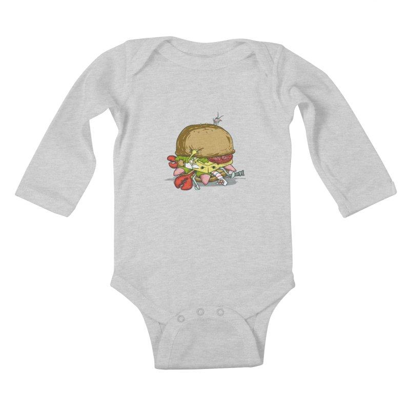 Chump Burger Kids Baby Longsleeve Bodysuit by groch's Artist Shop