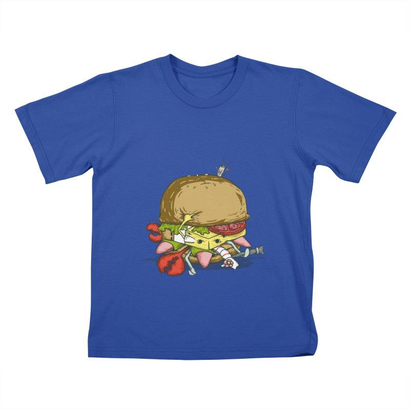 Chump Burger Kids T-shirt by groch's Artist Shop
