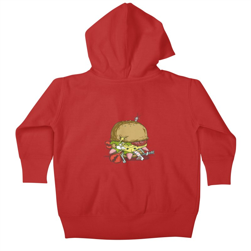 Chump Burger Kids Baby Zip-Up Hoody by groch's Artist Shop