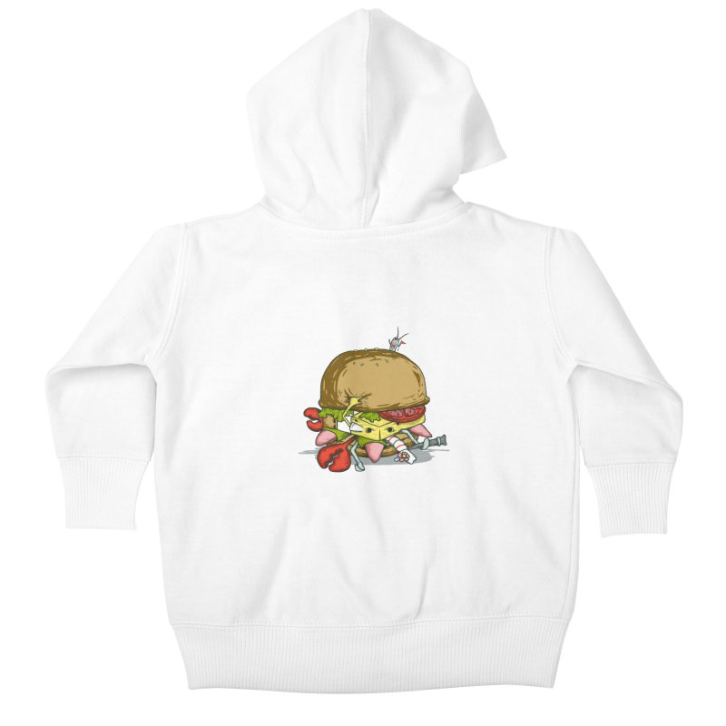 Chump Burger Kids Baby Zip-Up Hoody by groch's Artist Shop