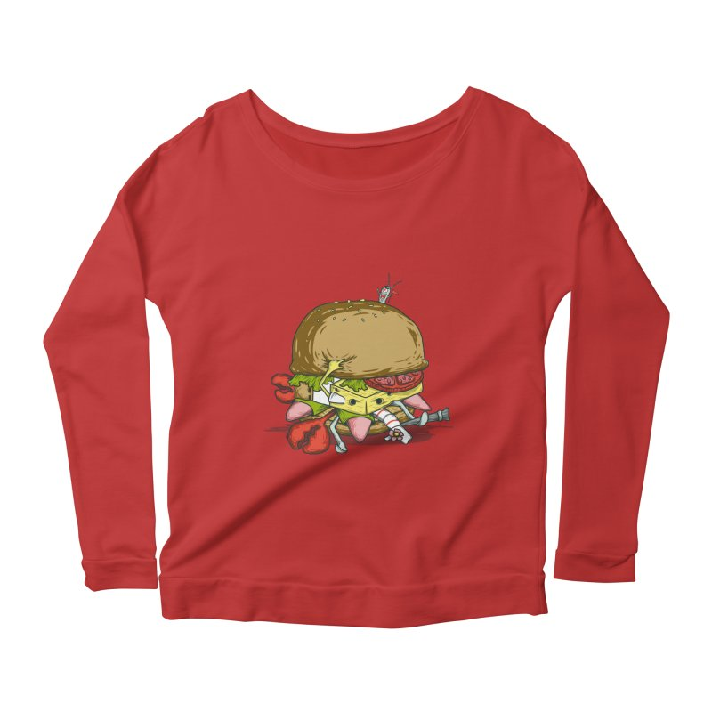 Chump Burger Women's Longsleeve Scoopneck  by groch's Artist Shop