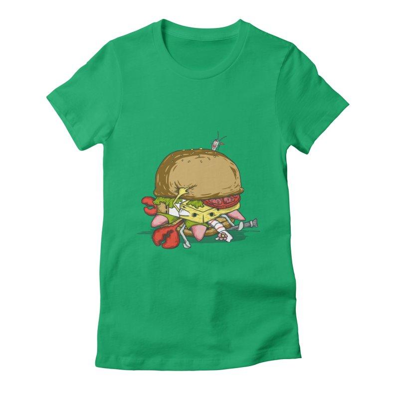 Chump Burger Women's Fitted T-Shirt by groch's Artist Shop