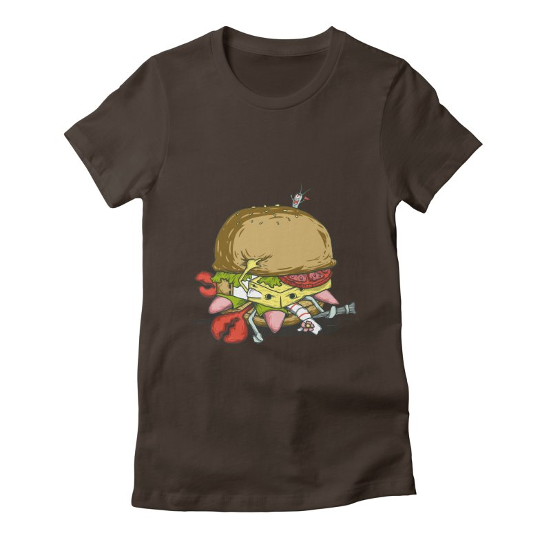 Chump Burger Women's Fitted T-Shirt by groch's Artist Shop