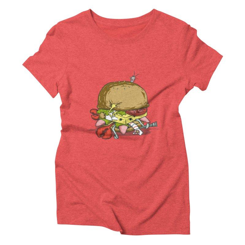 Chump Burger Women's Triblend T-Shirt by groch's Artist Shop