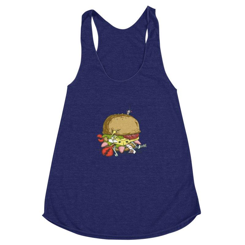 Chump Burger Women's Racerback Triblend Tank by groch's Artist Shop