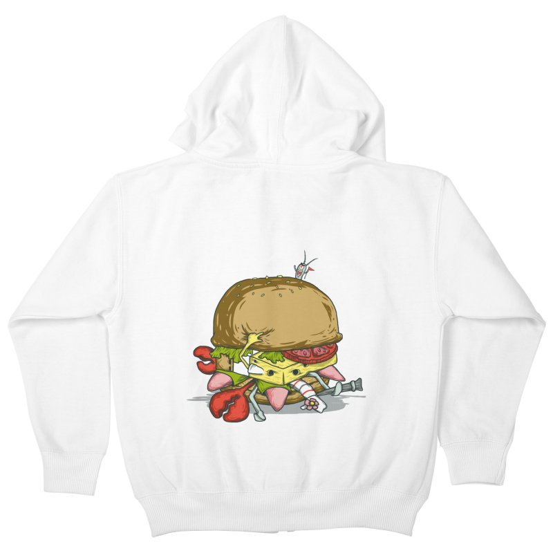Chump Burger Kids Zip-Up Hoody by groch's Artist Shop
