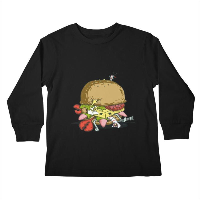 Chump Burger Kids Longsleeve T-Shirt by groch's Artist Shop