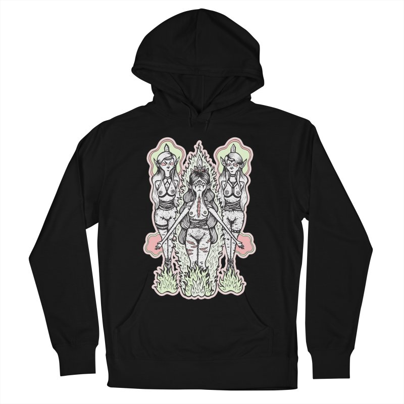 Babes are Burning Men's French Terry Pullover Hoody by grooseling's Shop