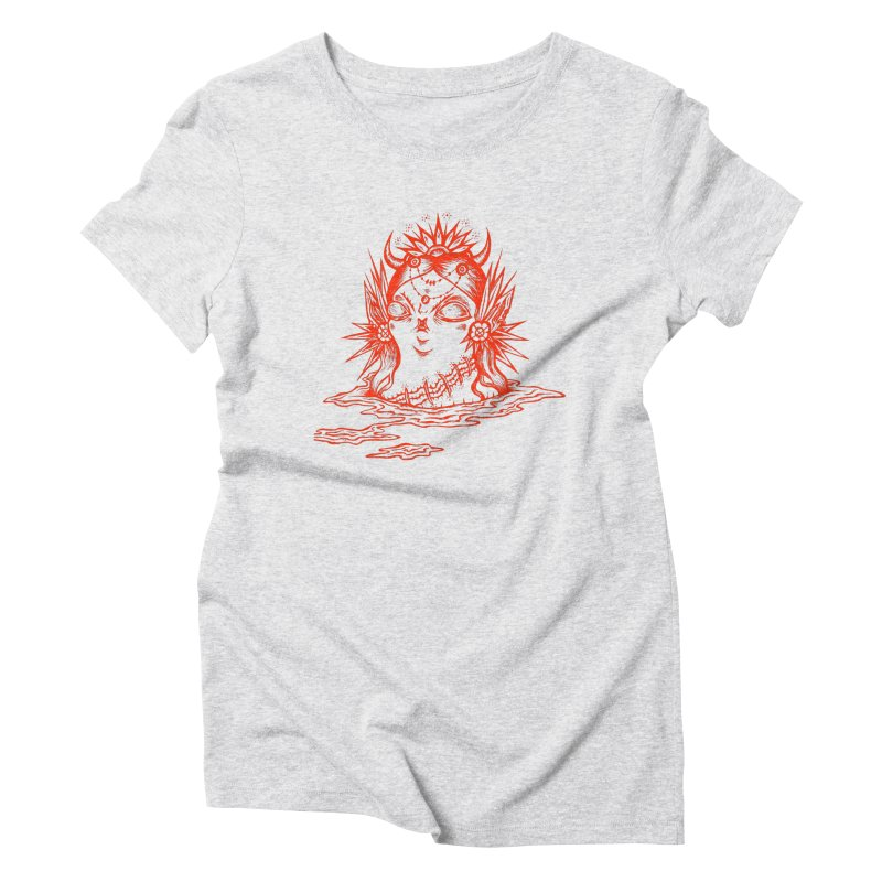 It's fuzzy, but still visible. Women's Triblend T-Shirt by grooseling's Shop