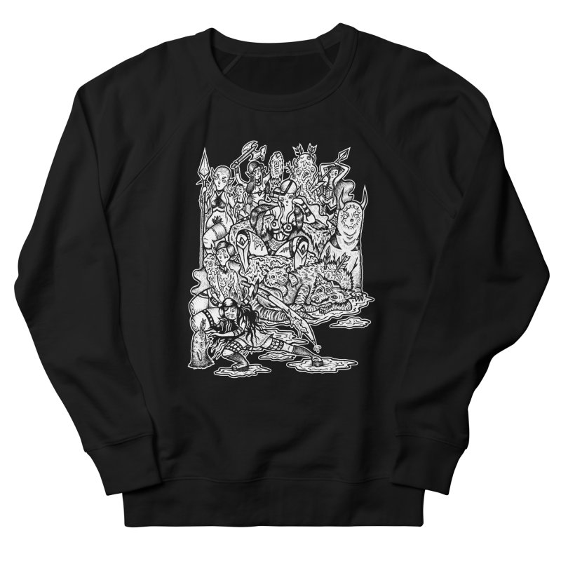 Throne Room Men's French Terry Sweatshirt by grooseling's Shop