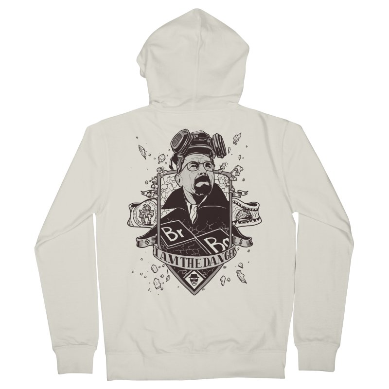 I am the Danger Men's French Terry Zip-Up Hoody by Stefan Grosse Halbuer