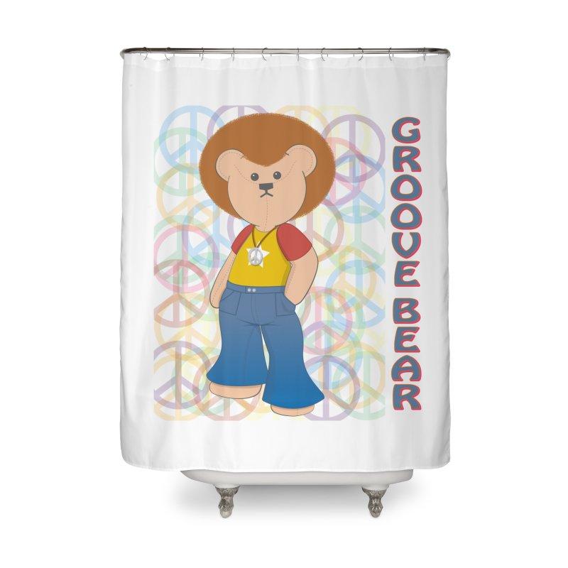 Groove Bear Home Shower Curtain by grumpyteds's Artist Shop
