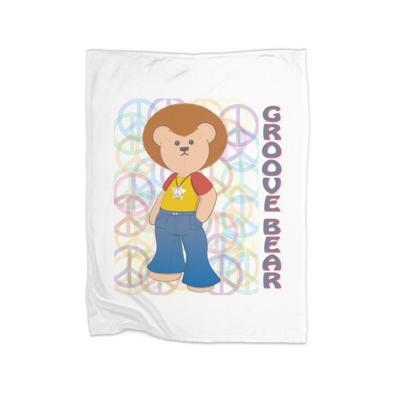 Groove Bear Home Blanket by grumpyteds's Artist Shop