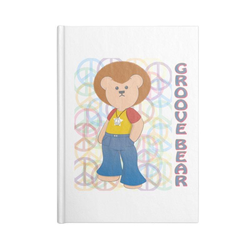Groove Bear Accessories Blank Journal Notebook by grumpyteds's Artist Shop