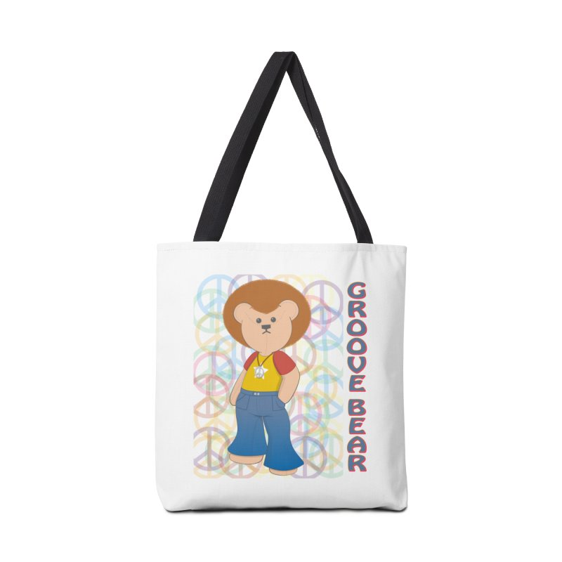 Groove Bear Accessories Tote Bag Bag by grumpyteds's Artist Shop