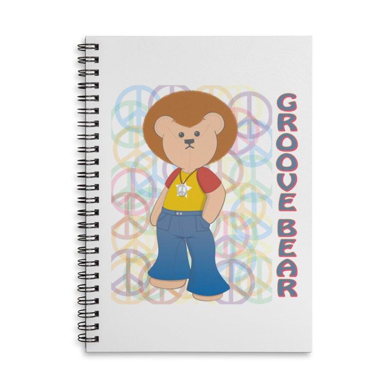 Groove Bear Accessories Lined Spiral Notebook by grumpyteds's Artist Shop