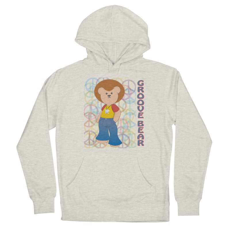 Groove Bear Women's French Terry Pullover Hoody by grumpyteds's Artist Shop
