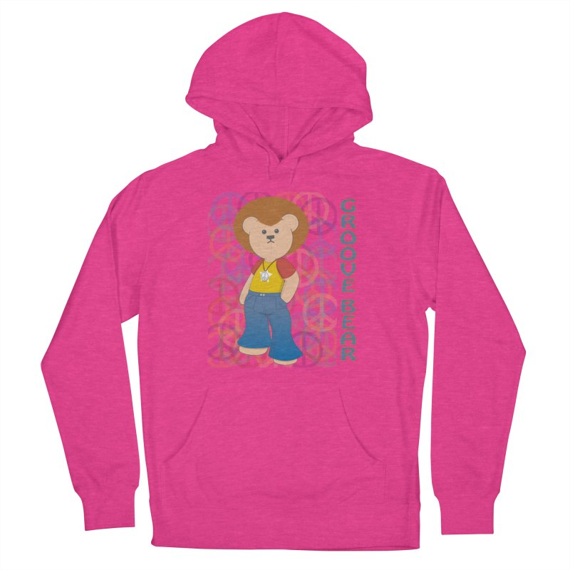 Groove Bear Men's French Terry Pullover Hoody by grumpyteds's Artist Shop