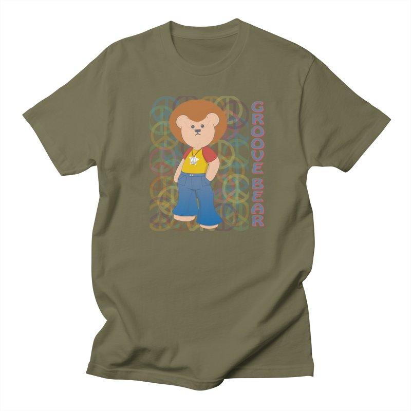 Groove Bear Women's Regular Unisex T-Shirt by grumpyteds's Artist Shop