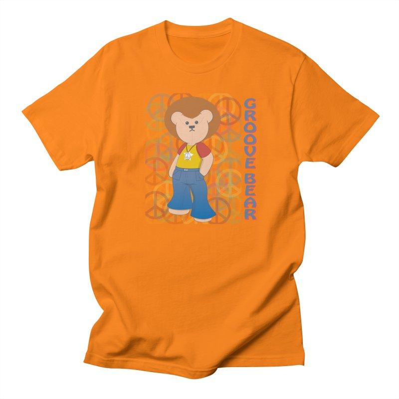 Groove Bear Men's Regular T-Shirt by grumpyteds's Artist Shop