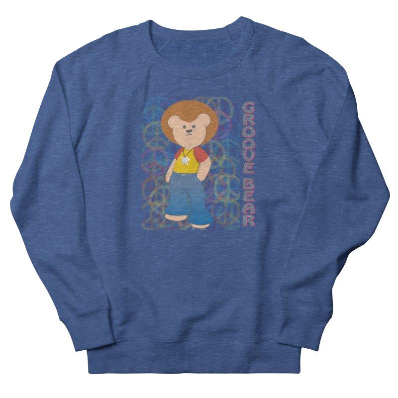 Groove Bear Men's French Terry Sweatshirt by grumpyteds's Artist Shop