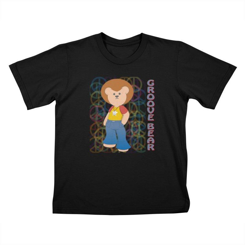 Groove Bear Kids T-Shirt by grumpyteds's Artist Shop