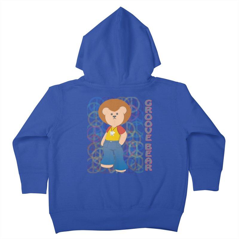 Groove Bear Kids Toddler Zip-Up Hoody by grumpyteds's Artist Shop