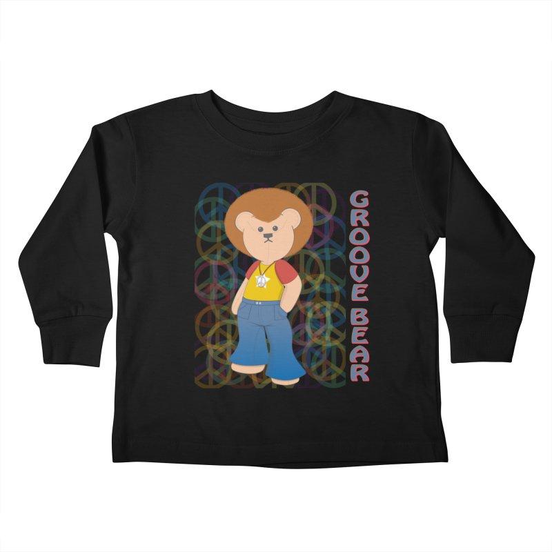 Groove Bear Kids Toddler Longsleeve T-Shirt by grumpyteds's Artist Shop