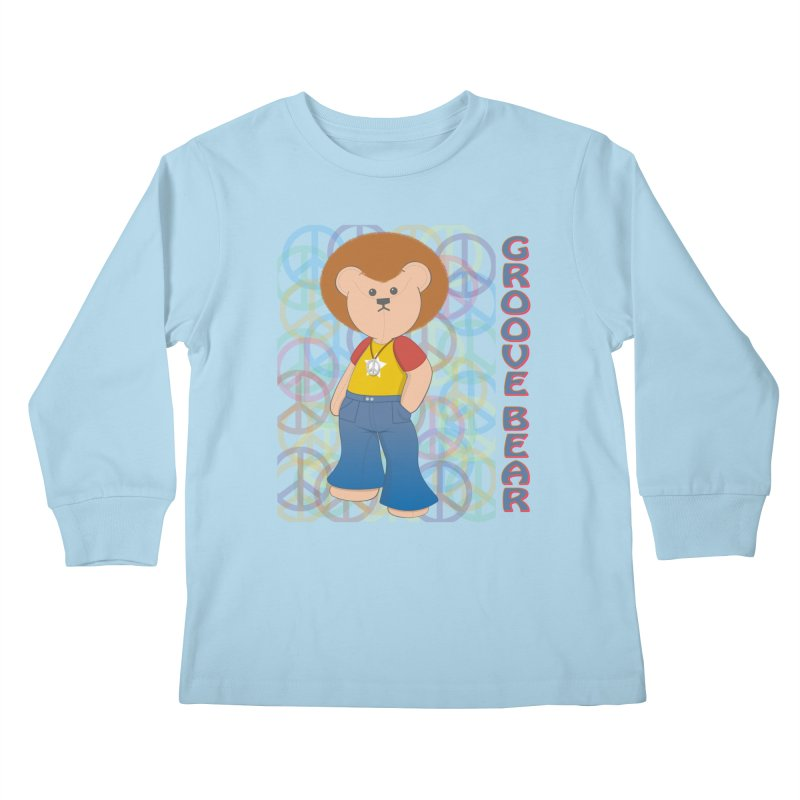 Groove Bear Kids Longsleeve T-Shirt by grumpyteds's Artist Shop