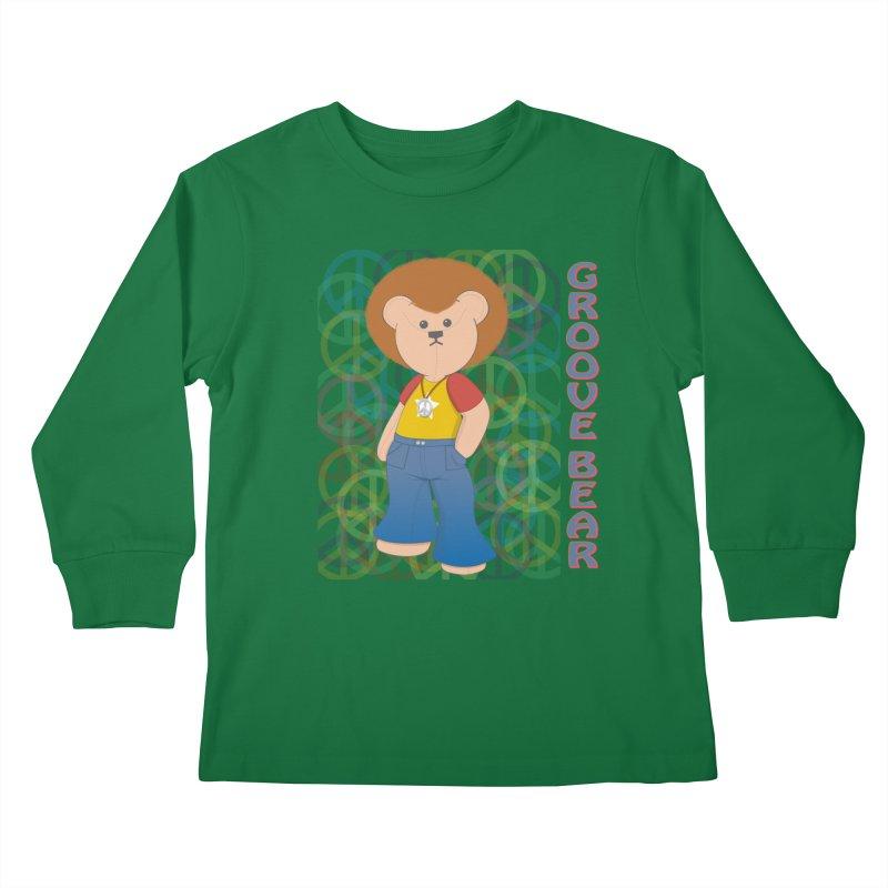 Groove Bear Kids Longsleeve T-Shirt by grumpyteds's Artist Shop