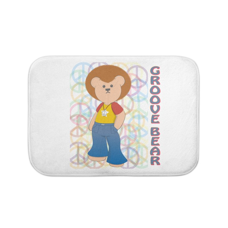 Groove Bear Home Bath Mat by grumpyteds's Artist Shop
