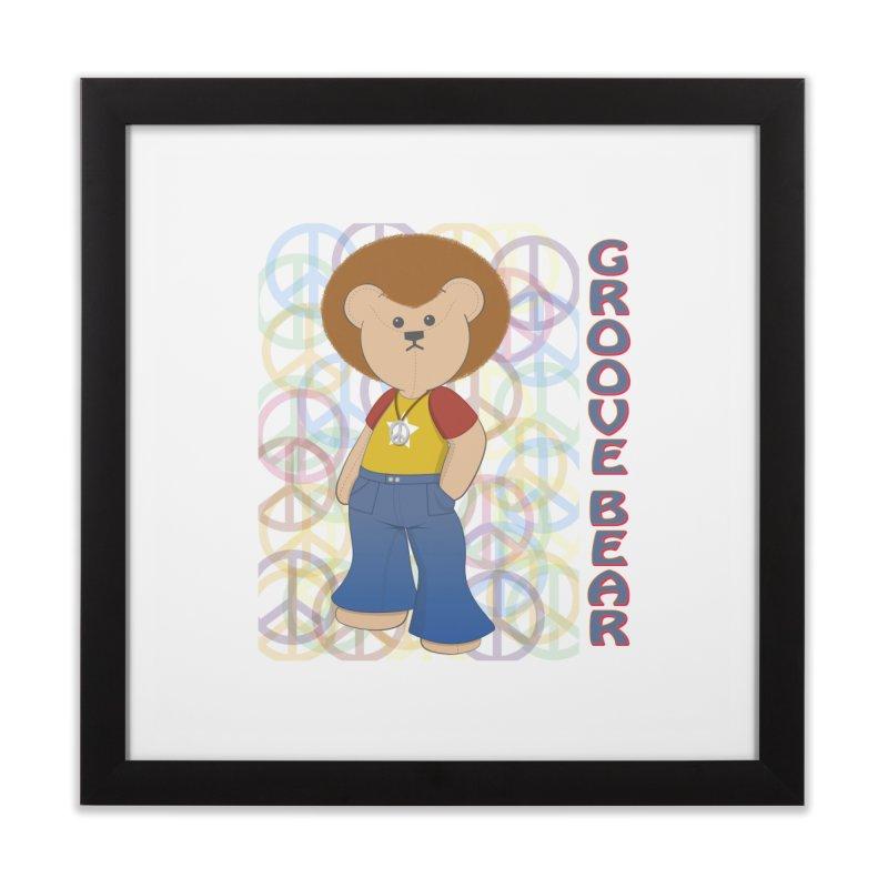 Groove Bear Home Framed Fine Art Print by grumpyteds's Artist Shop