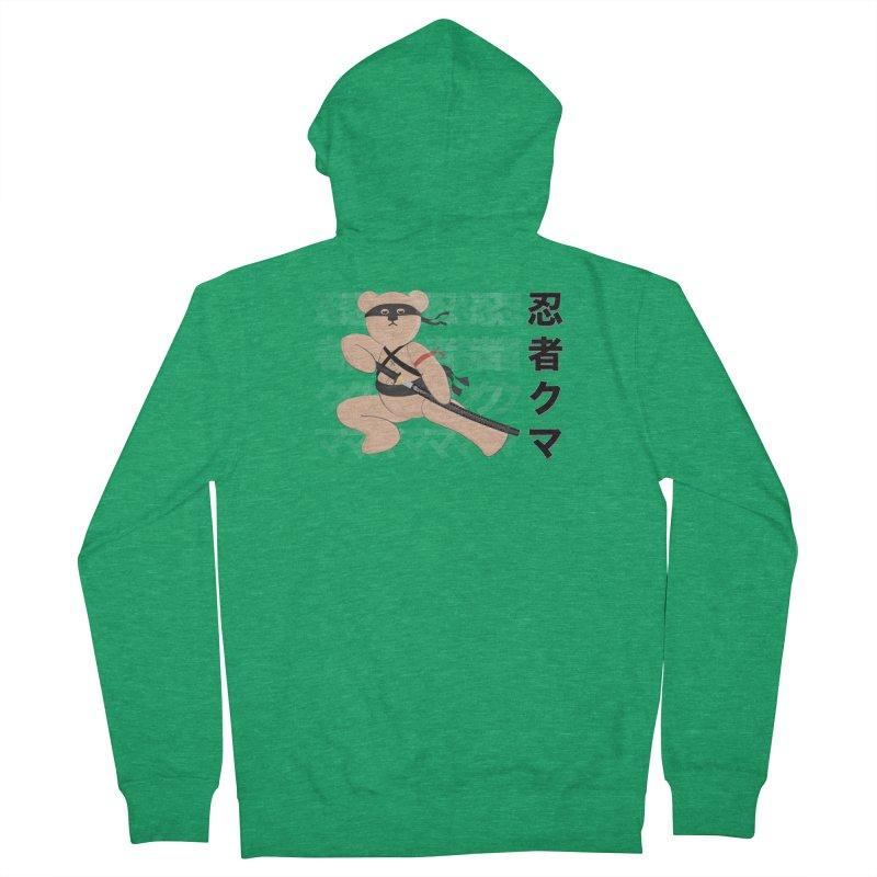 Ninja Bear Men's Zip-Up Hoody by grumpyteds's Artist Shop