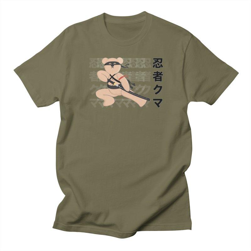 Ninja Bear Men's Regular T-Shirt by grumpyteds's Artist Shop