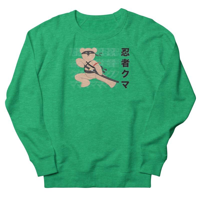 Ninja Bear Men's French Terry Sweatshirt by grumpyteds's Artist Shop